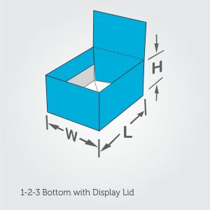 1-2-3 Bottom with Display Lid
